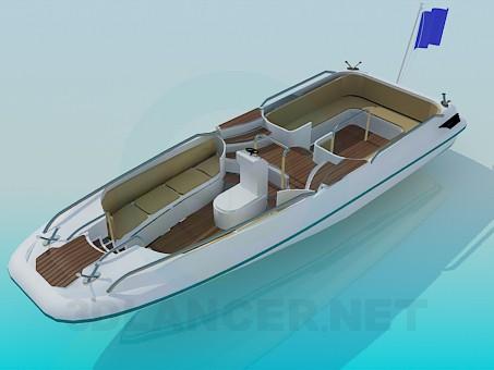 3d model Motorboat - preview