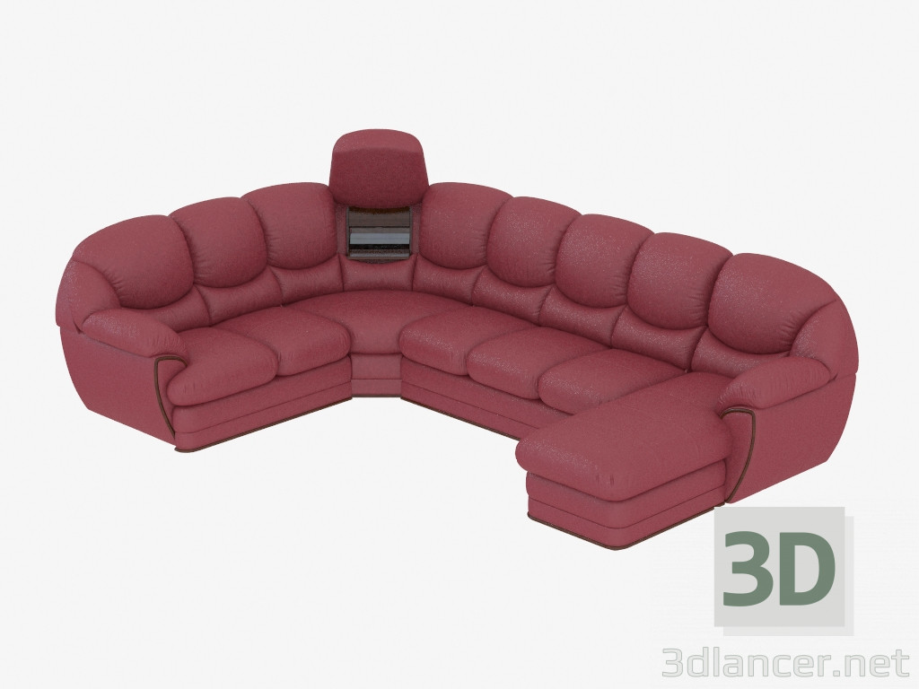 Groovy 3D Model Sofa Modular Leather Angular Mobelzeit Max 2013 Evergreenethics Interior Chair Design Evergreenethicsorg