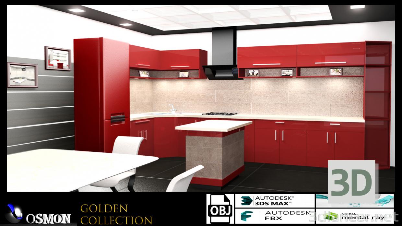 3d Gold collection number 7 model buy - render