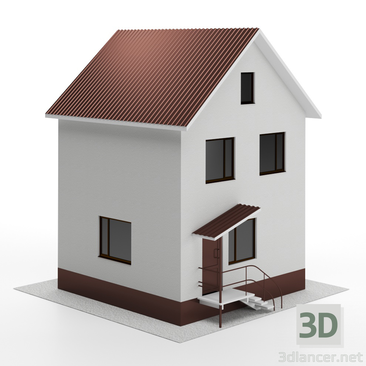 3d model Holiday house - preview