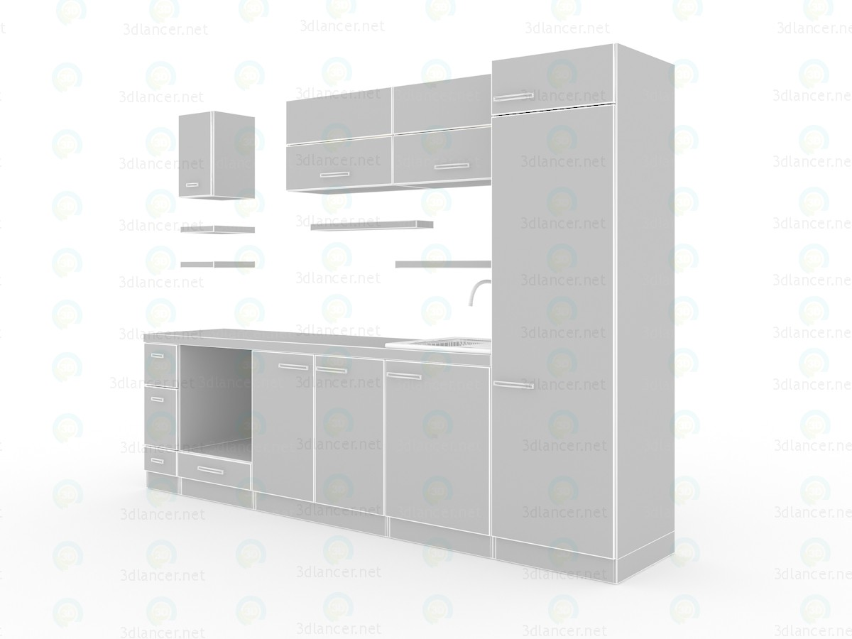 3d model Modern kitchen - preview