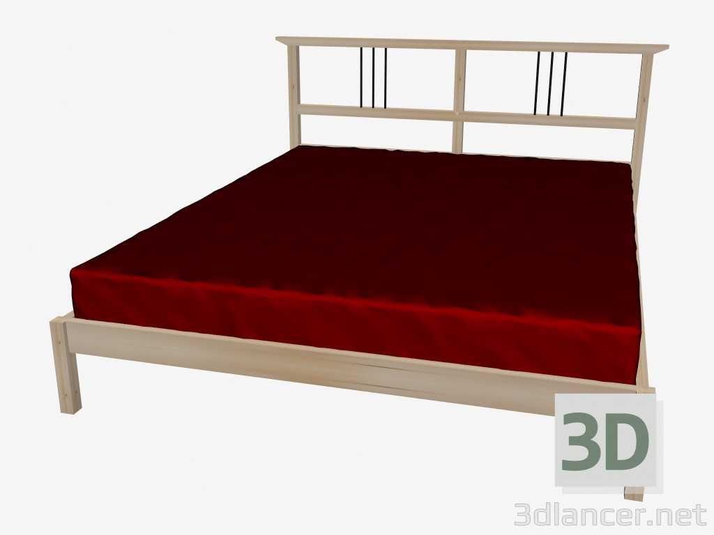 3d Model Bed Double Manufacturer Ikea Collection Dalselv