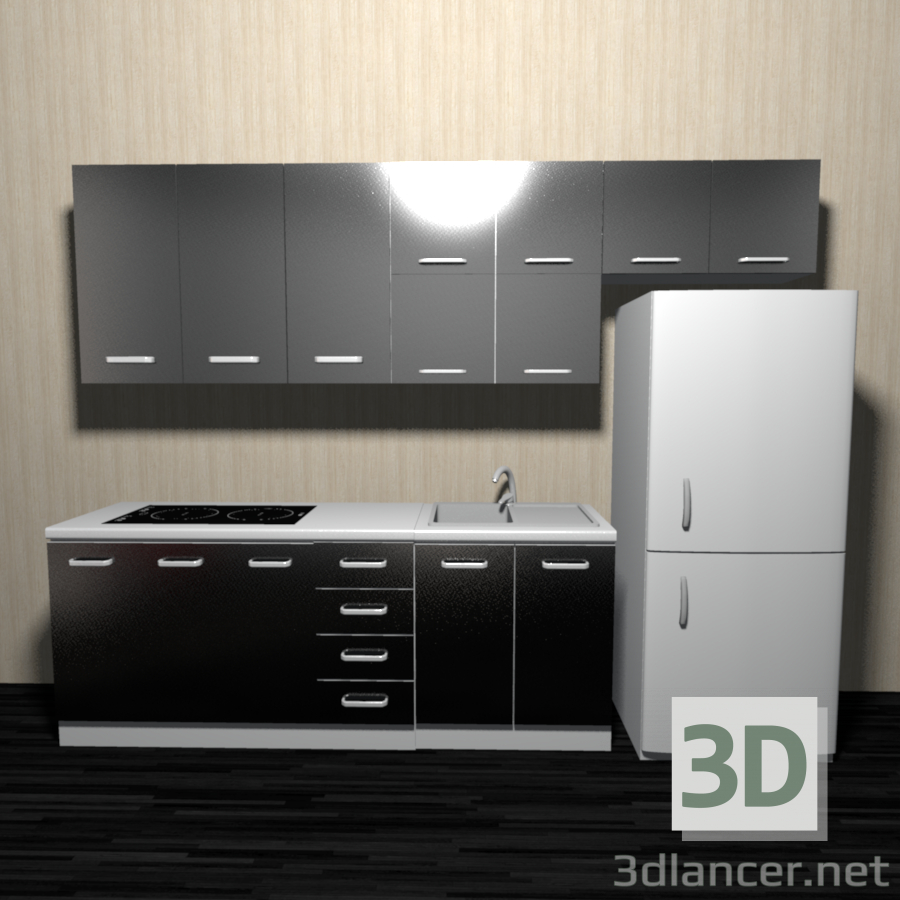 3d model kitchen id 21190 for Model kitchen images