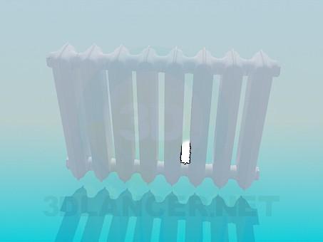 modelo 3D Radiador de hierro fundido - escuchar