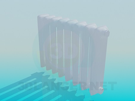 3d model Cast iron radiator - preview