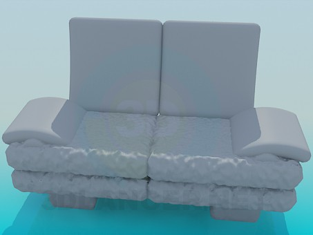 3d modeling Comfortable small sofa model free download