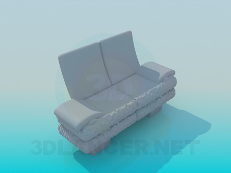 3d model Comfortable small sofa - preview