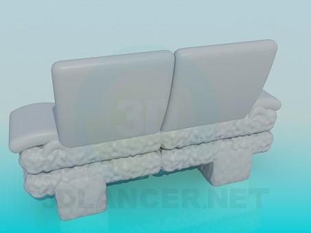 3d модель Удобная небольшая софа – превью