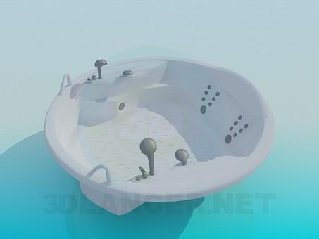 modelo 3D Jacuzzi redondo - escuchar