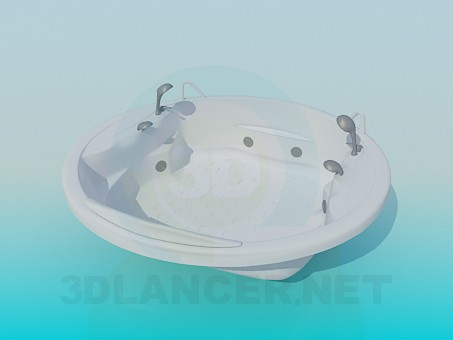 3d model Round Jacuzzi - preview