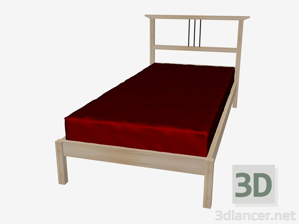 Bedombouw 180x220 Ikea.3d Model Bed Single Ikea Max 2012 Free Download