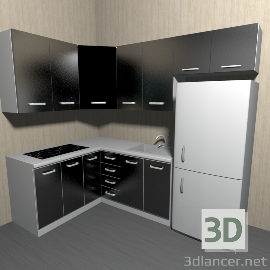 3d model kitchen id 21191 for Model kitchen images
