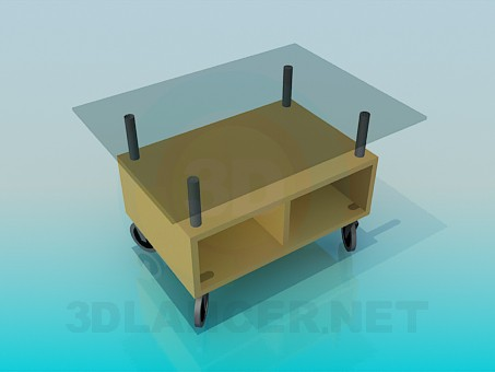 3d model Table trolley - preview