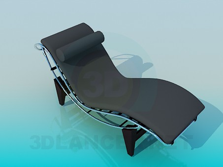 3d modeling Sunbed with roller under neck model free download