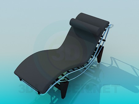 3d model Sunbed with roller under neck - preview