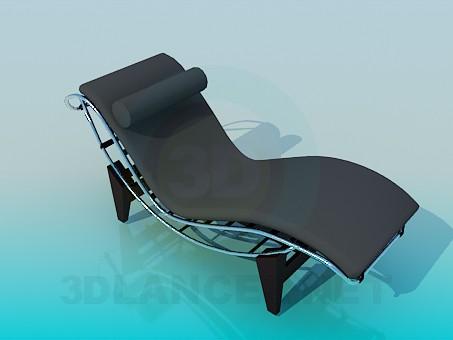 3d модель Лежак с валиком под шею – превью