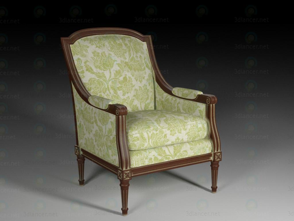 3d модель Класичне крісло – превью