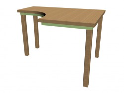 corner table for classes 63ST02R right