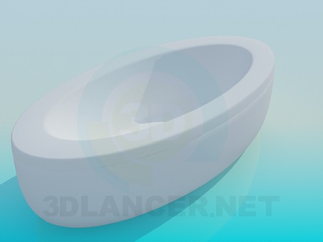 3d model Oval tub - preview