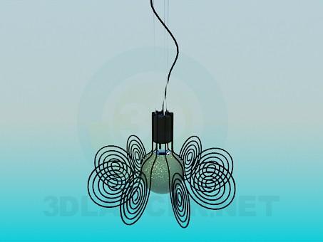 modello 3D Lampadario a bracci - anteprima