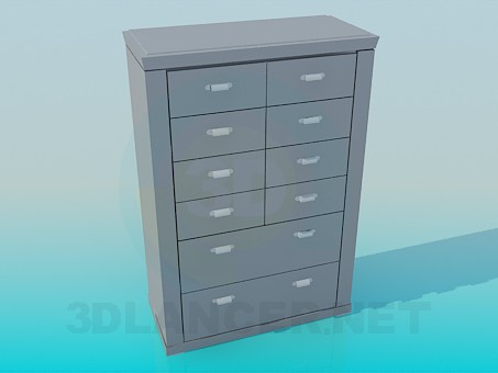 3d modeling High cabinet with drawers model free download