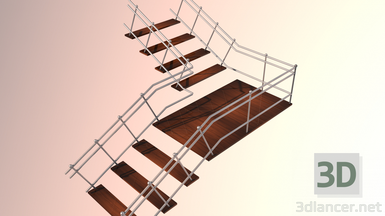 Modelo 3d escaleras id 22193 for Escaleras 3d max