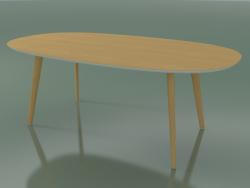 Table ovale 3507 (H 74 - 200x110 cm, M02, Chêne naturel, option 2)