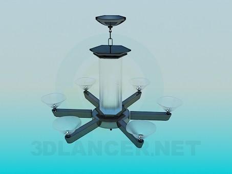 3d модель Люстра - фонарь – превью