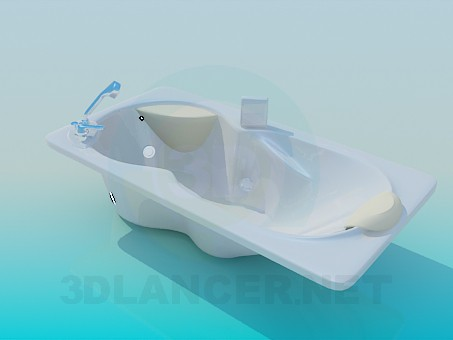 3d model Jacuzzi with headrests - preview