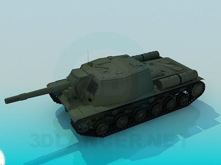 3d моделирование SU-152 модель скачать бесплатно