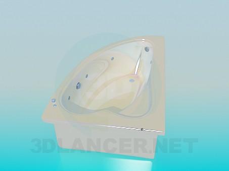 3d model Corner bath - preview