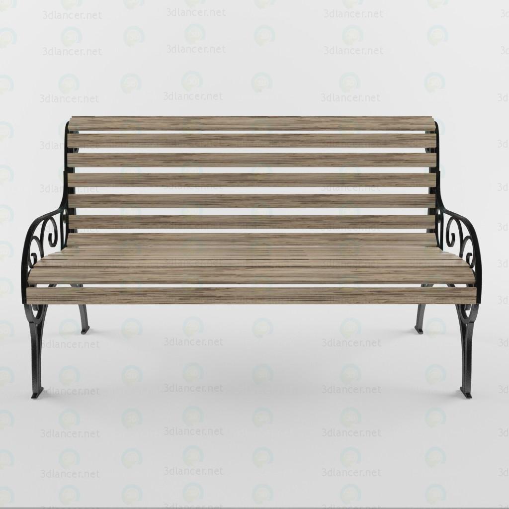3d  Bench  model buy - render