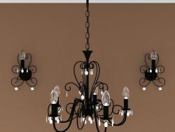 Chandelier + lamp
