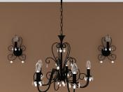 Люстра + лампа