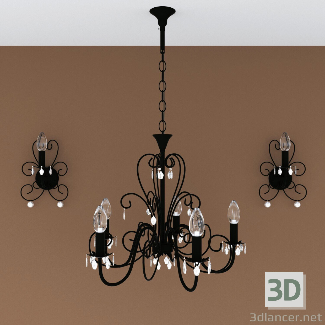 3d model chandelier lamp download to 3dlancer 3d model chandelier lamp aloadofball Image collections