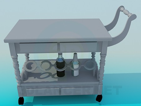 3d modeling trolley waiter model free download
