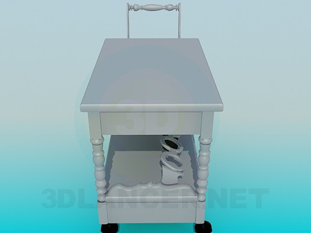 3d model trolley waiter - preview