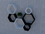 Shelf in the form of honeycombs