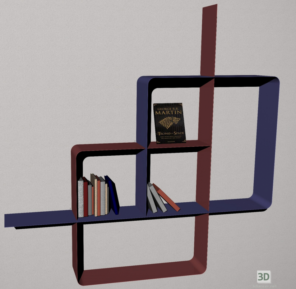3 डी मॉडल पुस्ताक तख्ता - पूर्वावलोकन