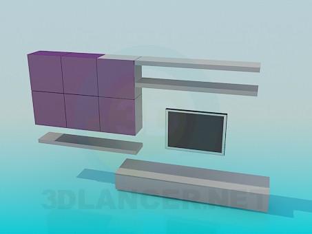 3d модель Стенка-шкаф для гостинной – превью