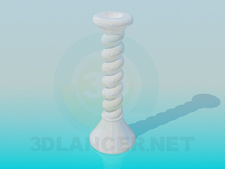 3d model Ceramic candle holder - preview