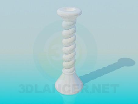 modelo 3D Portavelas de cerámica - escuchar
