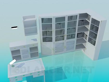 modelo 3D Los muebles de la habitación - escuchar
