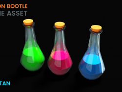 3D Poison Bottle Game asset