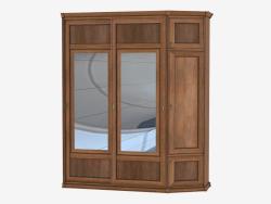 Angular wardrobe for the hallway (sh 83)