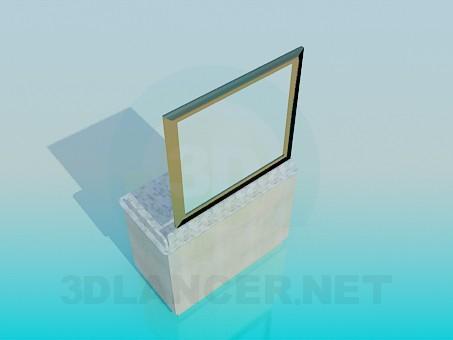 3d модель Рукомойник с зеркалом – превью