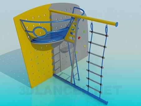 descarga gratuita de 3D modelado modelo Muebles infantiles de deportes