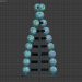 3 डी मॉडल डीएनए प्रतिमा - पूर्वावलोकन