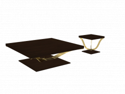 Coffee table and side table by Teseo