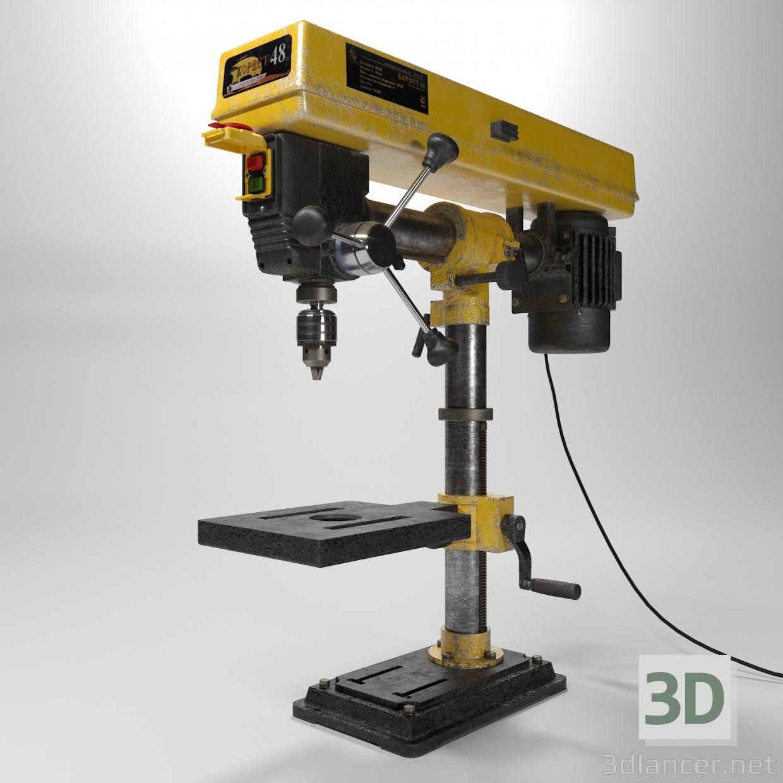 3d Drilling machine Corvette48 model buy - render